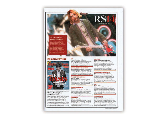 Rolling Stone Mag - Mise en page